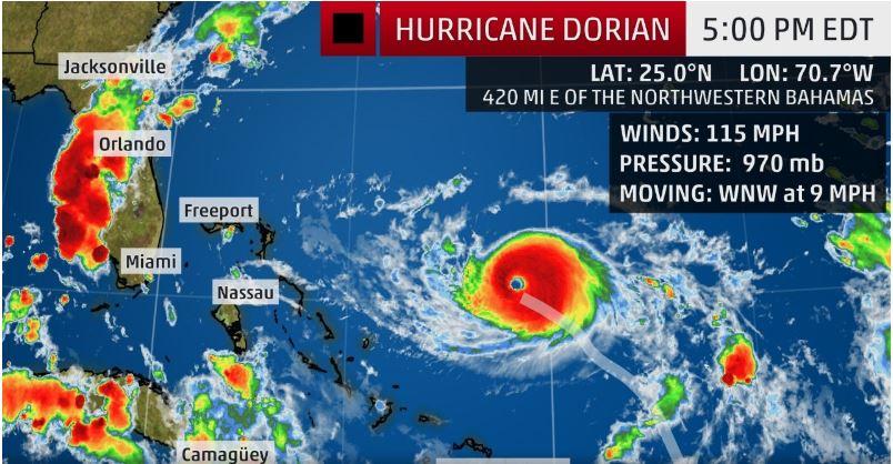 hurricane dorian closures  orlando international airport  blizzard beach  and more