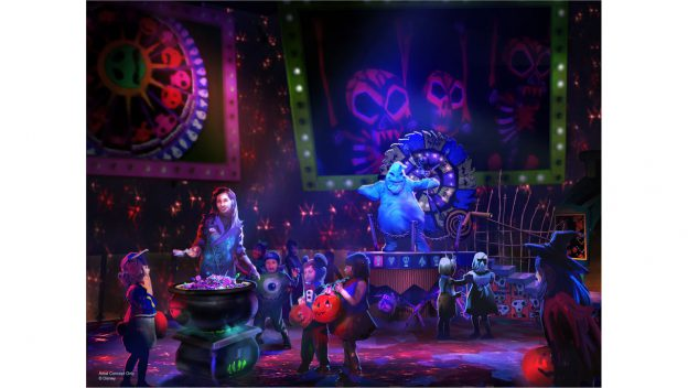 New Concept Art Released for Oogie Boogie Bash in Disney California Adventure Park this Halloween!