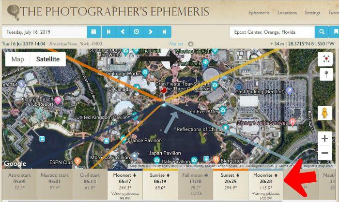 The Photographers Ephemeris Webapp