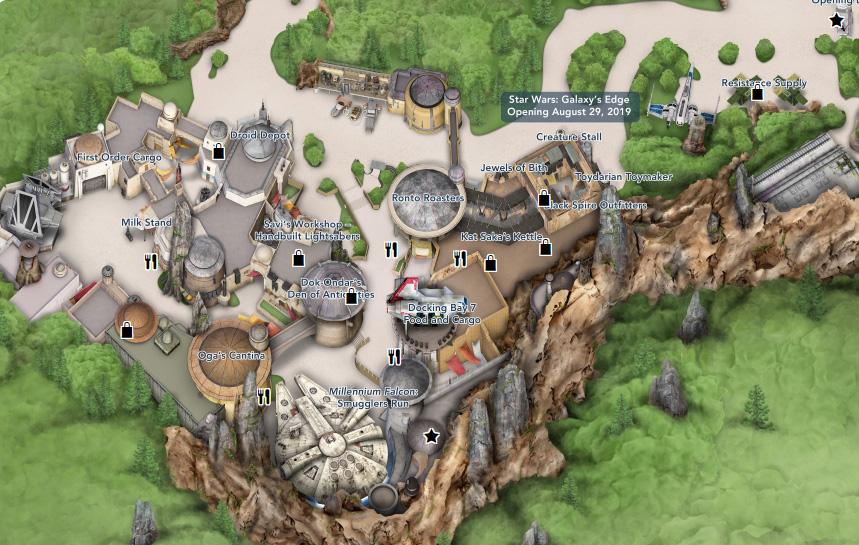 Star Wars Land Disney World Map Our First Visit to Disney World's Star Wars: Galaxy's Edge