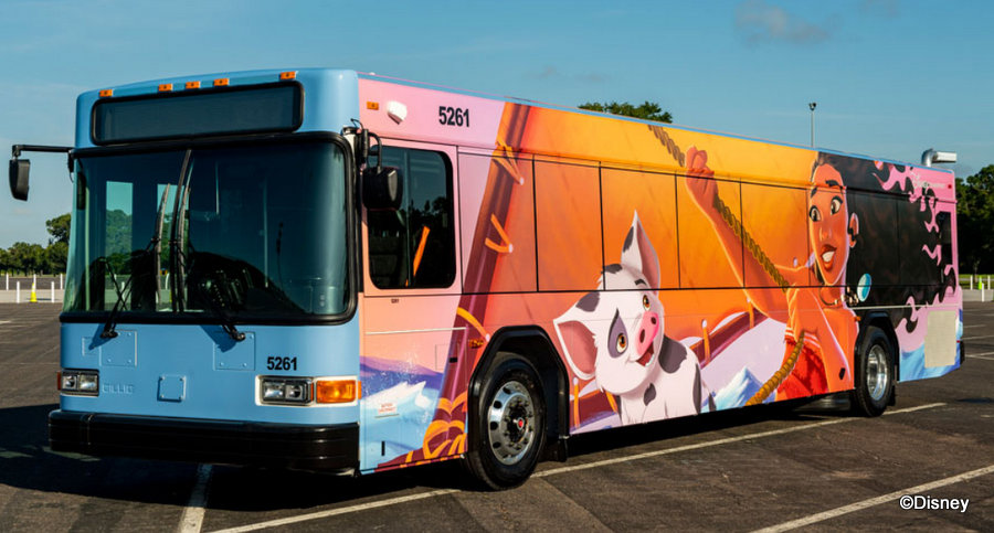 NEW Walt Disney World Bus Wraps — Featuring Moana, Simba, and More!