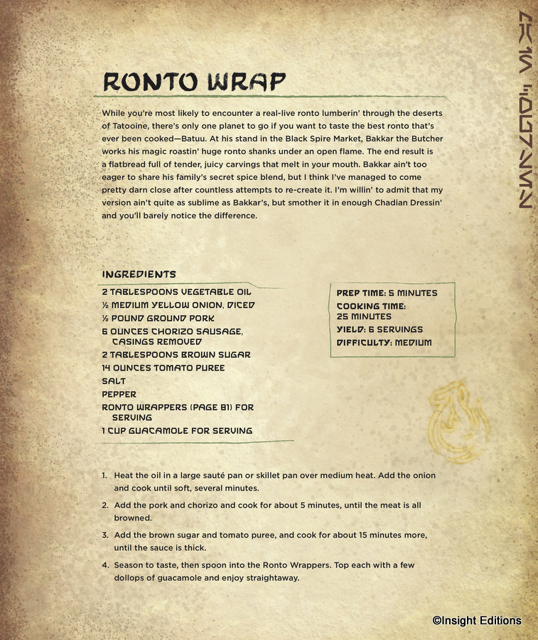 Star Wars Galaxy S Edge Cookbook Find Out How To Make Ronto Wraps At Home Sort Of Allears Net