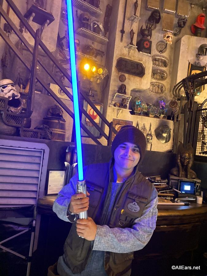 New Rise Of Skywalker Lightsabers Spotted In Walt Disney