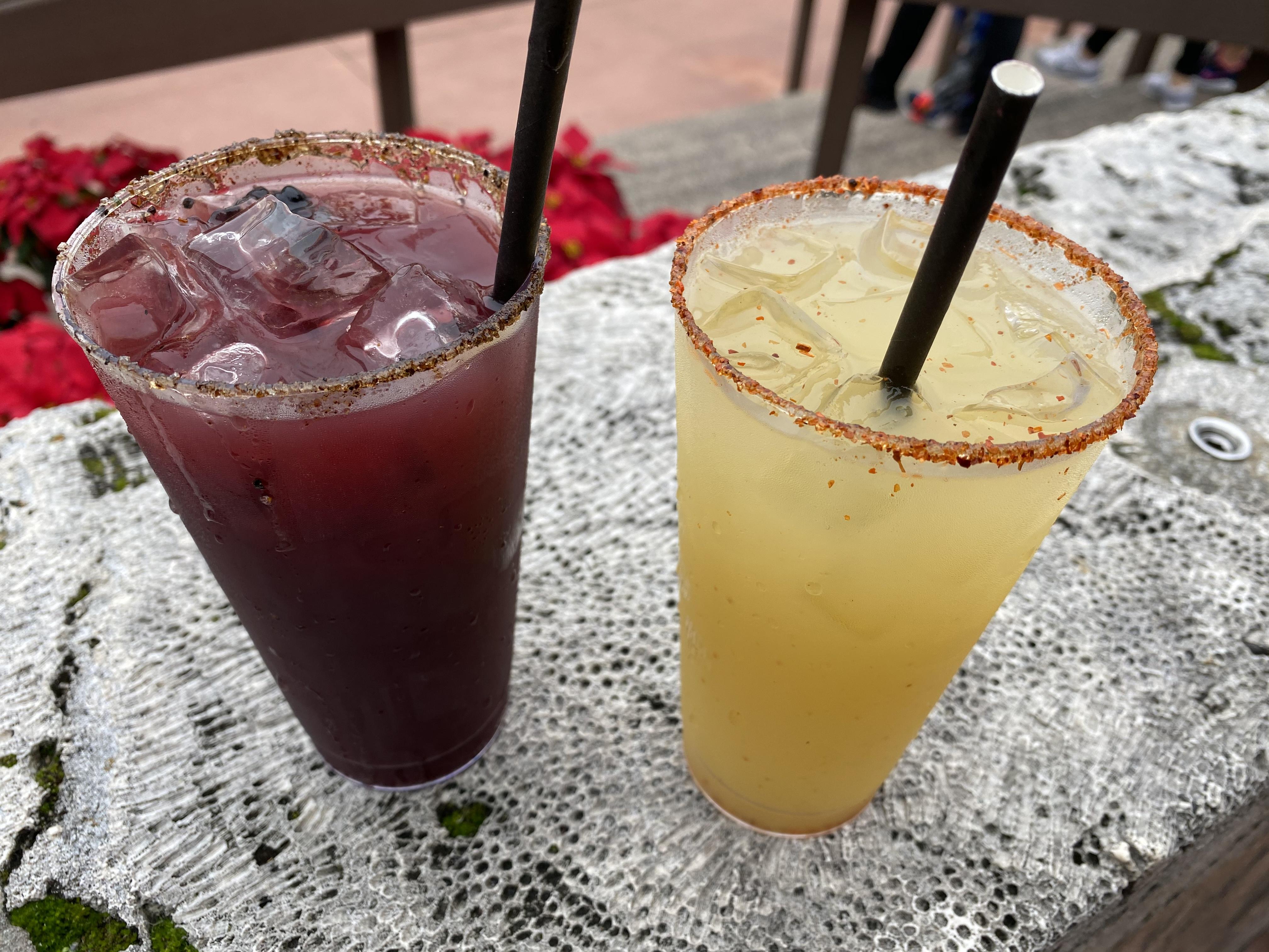 Choza de Margarita Spicy Blackberry Smoky Pineapple Margaritas