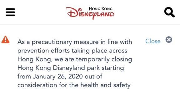 Hong Kong Disneyland Has Closed in Response to Coronavirus Outbreak - AllEars.Net