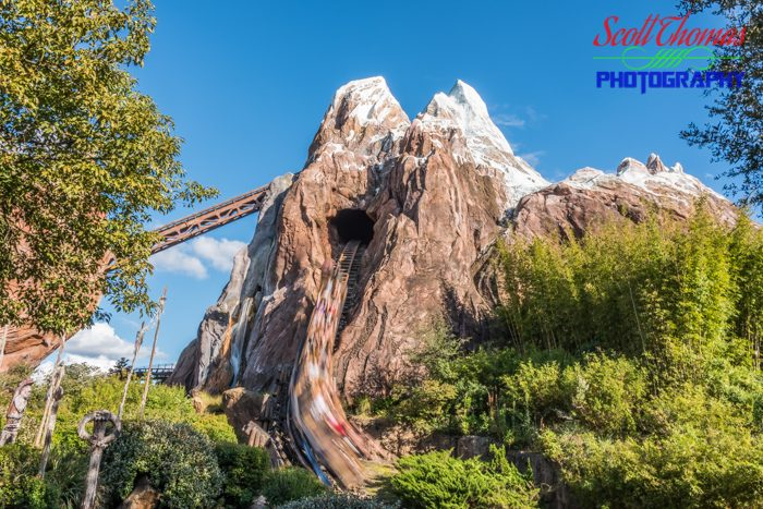 Expedition Everest with a Slow Shutter