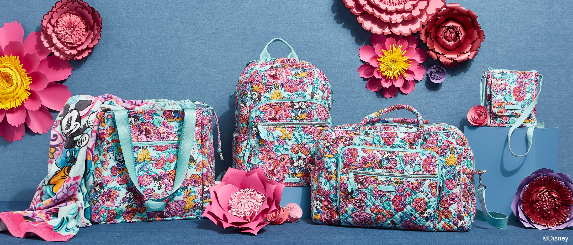 There S A New Floral Filled Disney X Vera Bradley Collection And
