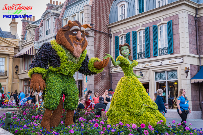 Flower and Garden Festival Beauty and the Beast Topiary 2020