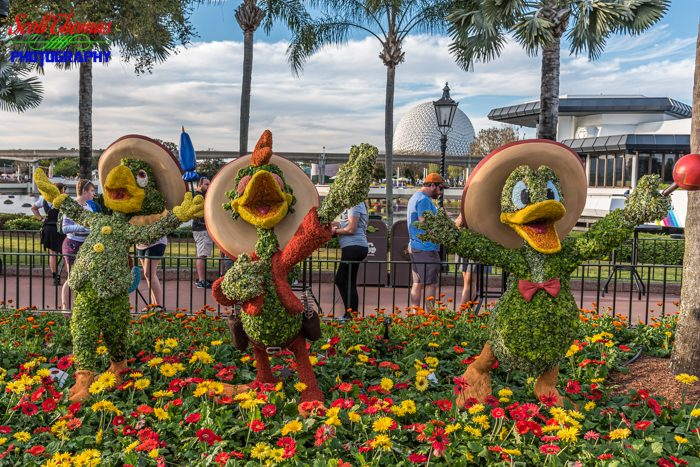Flower and Garden Festival Three Caballeros Topiaries 2020