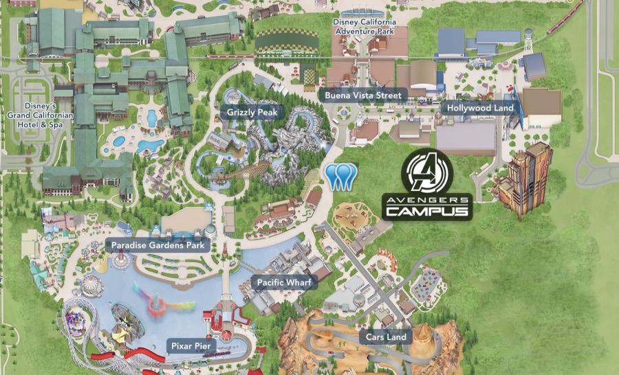 Ae Disneyland California Adventure Avengers Campus Map Allears Net