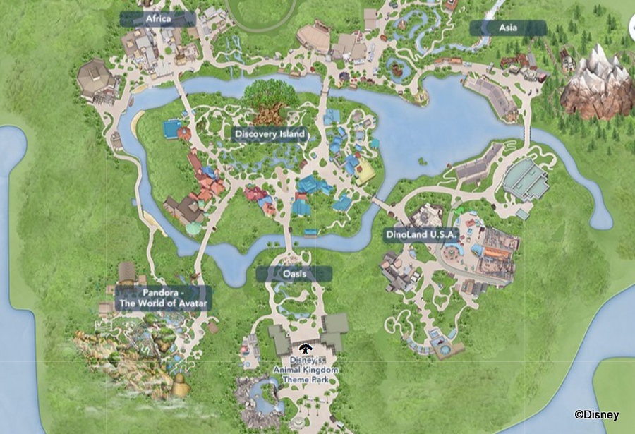 map of disney world orlando Walt Disney World Theme Park Maps Allears Net map of disney world orlando