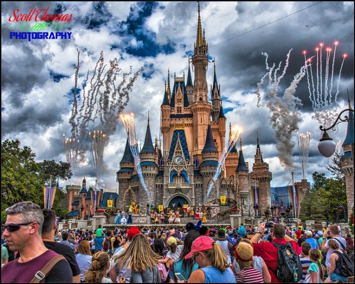 Cinderella Castle with Clouds