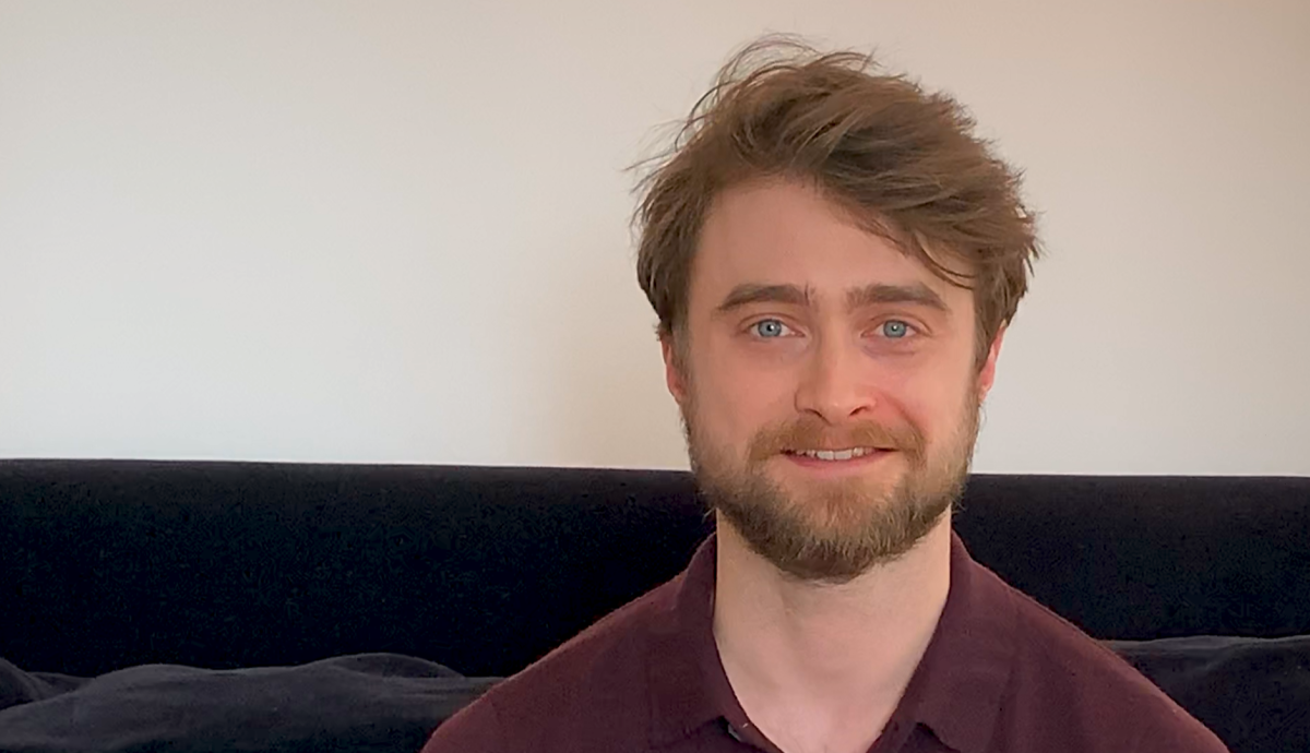 Daniel Radcliffe reads 'Harry Potter' to online audience