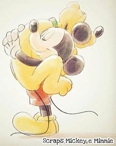 Mickey Pluto Hug by Thaís Costa