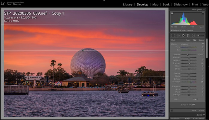 Spaceship Earth with Graduated Filter