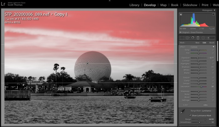 Spaceship Earth with Graduated Filter Mask