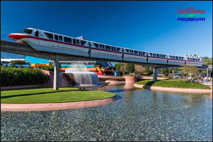 Monorail Red in Epcot