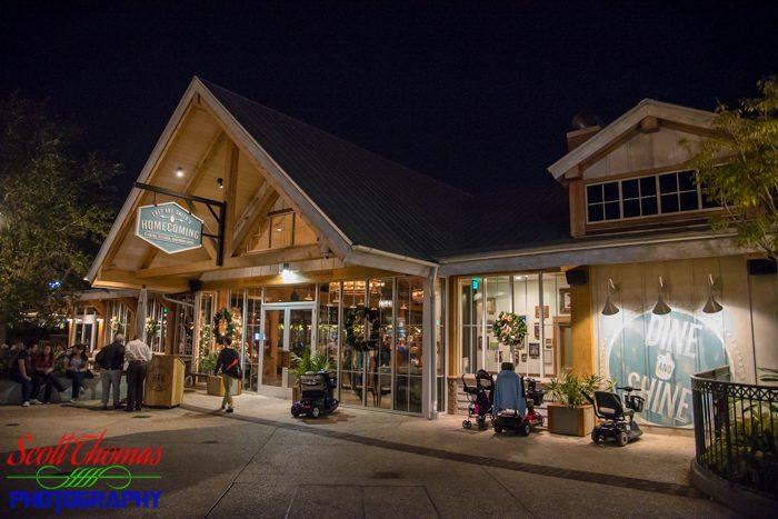 Disney Springs Homecoming Restaurant at Night