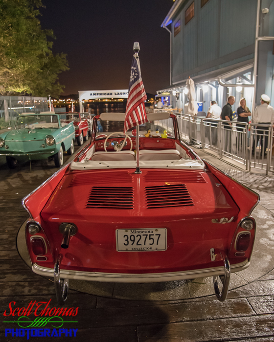 Disney Springs Boathouse Amphicar at Night
