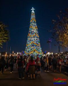 Epcot's World Showcase Christmas Tree