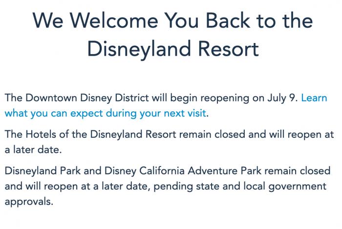 Disneyland Resort Hotel Update July 7