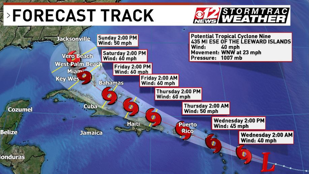 NEWS! Potential Tropical Storm Isaias Appears to Take Aim ...