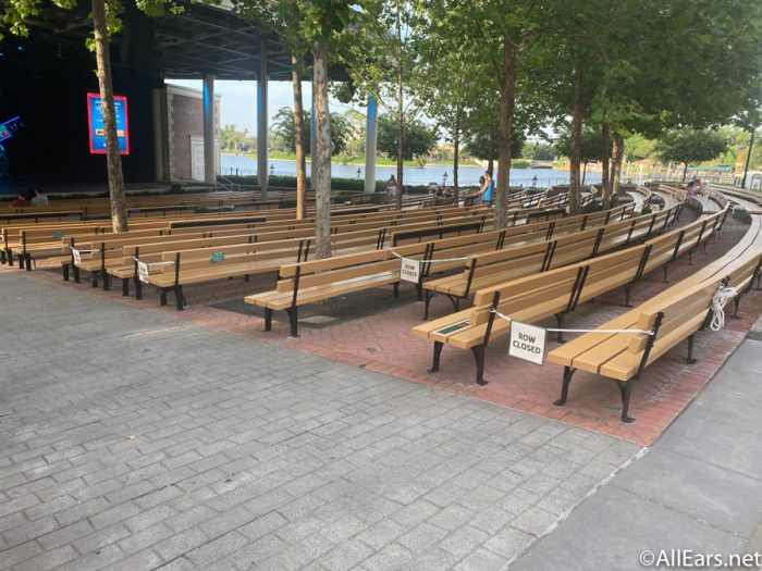 Open-Air Theater Bench Seating