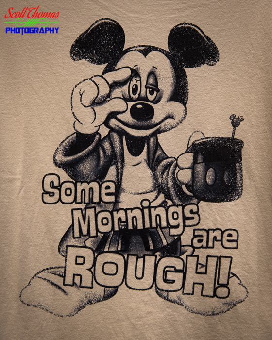 Mickey Some Mornings are Rough t-shirt