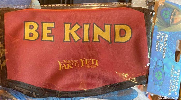 Be Kind Face Mask Yak and Yeti Animal Kingdom 2