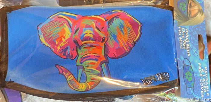 Rainbow Elephant Face Mask Yak and Yeti Animal Kingdom