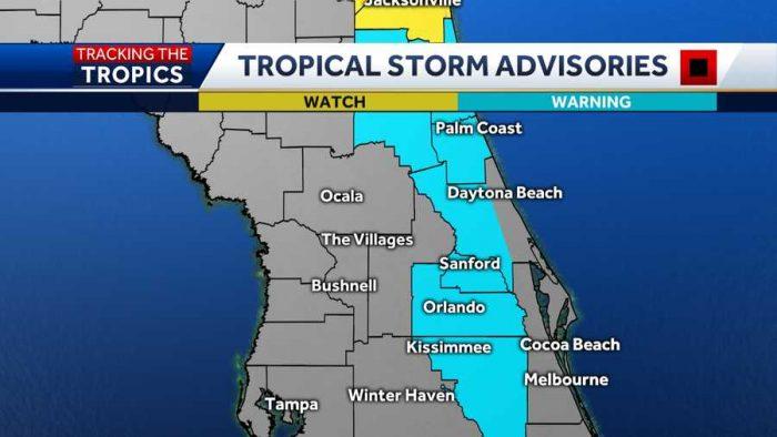 Tropical Storm Advisories Wesh 2 Hurricane Isaias 1