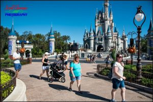 Family Walking in Magic Kingdom