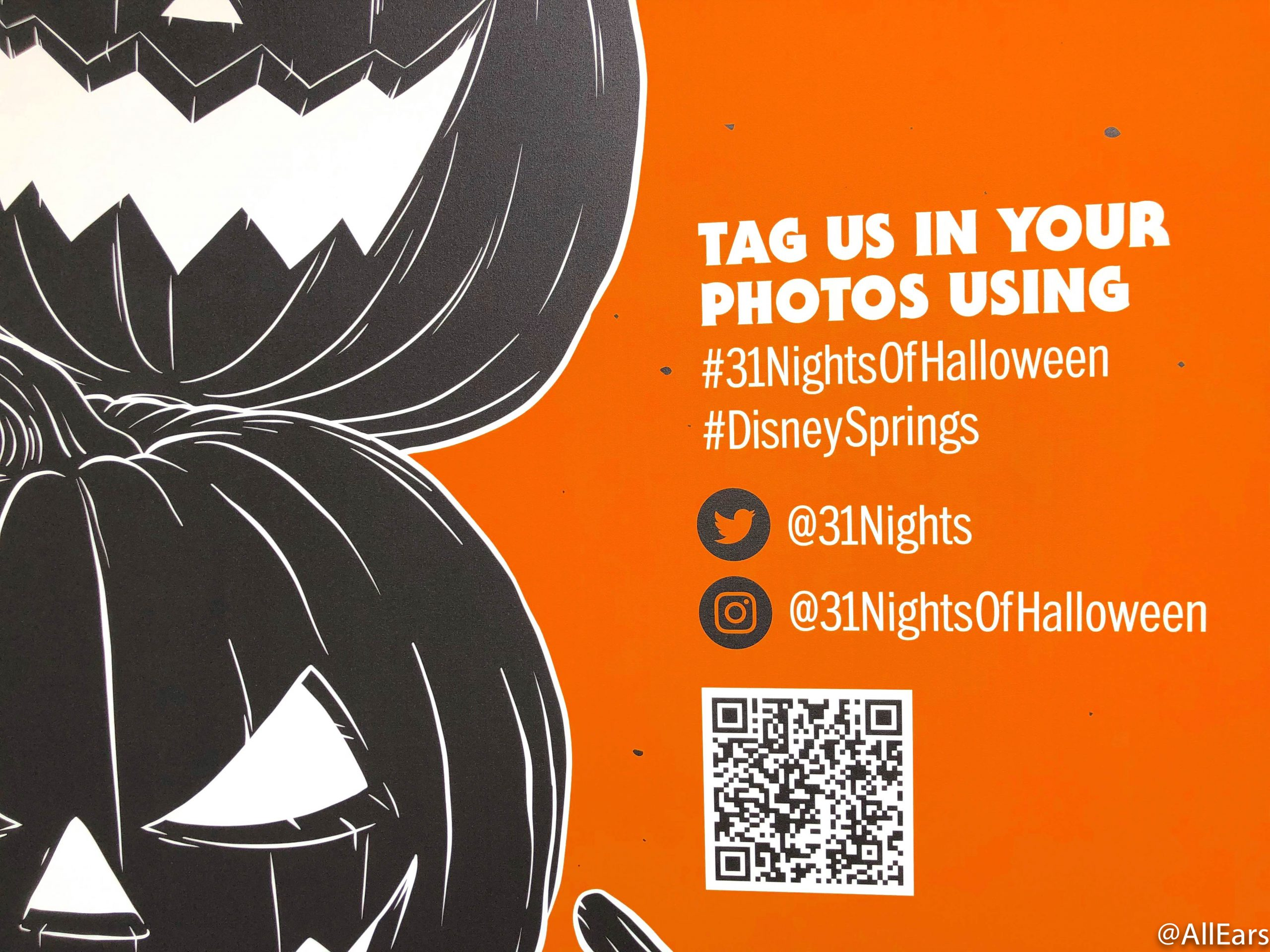 Barcode Halloween Kick Off 2020 We Found the Best Photo Op in Disney Springs for Your Halloween
