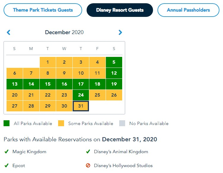 NEWS: Most Hollywood Studios Reservations are Booked for New Year's Eve and New Year's Day in ...