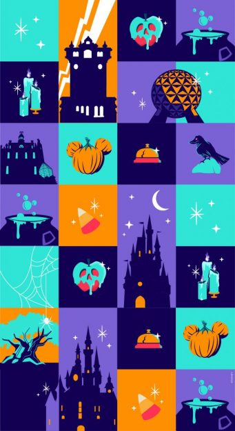 DIsney parks Halloween mobile wallpaper