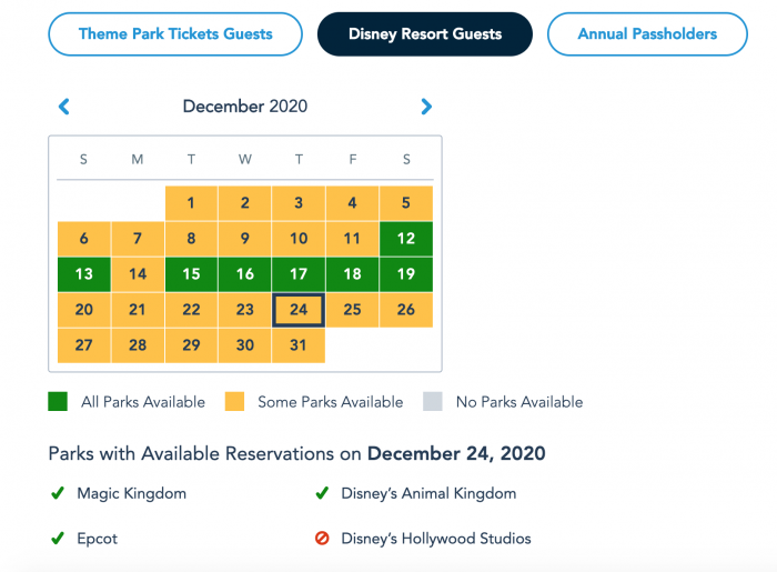Are Parks Closed On Christmas Eve 2020 NEWS! Park Passes Are Beginning to Sell Out for Christmas Eve in