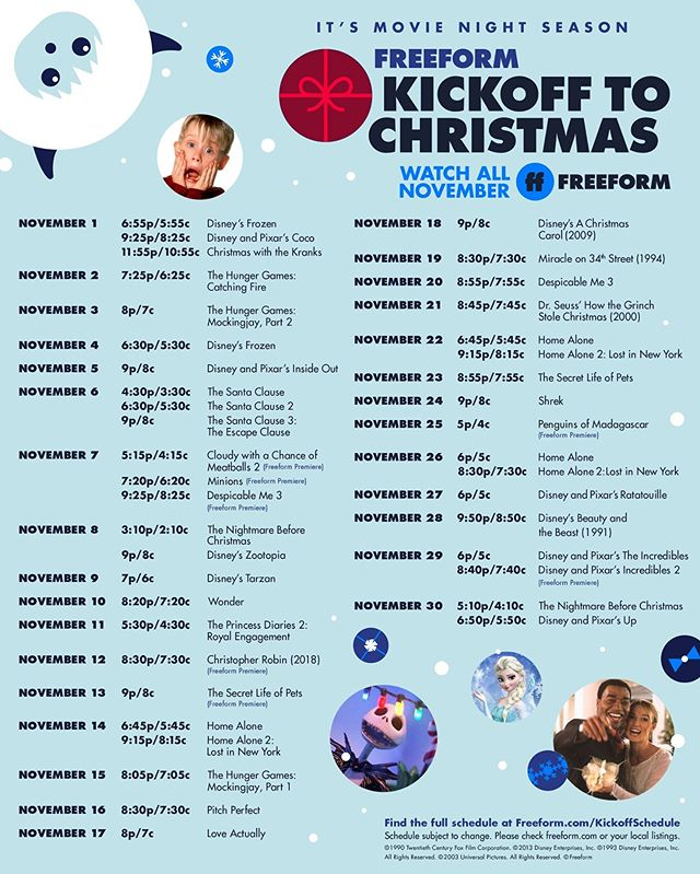 NEWS: Freeform Releases Their Full Kickoff to Christmas Schedule