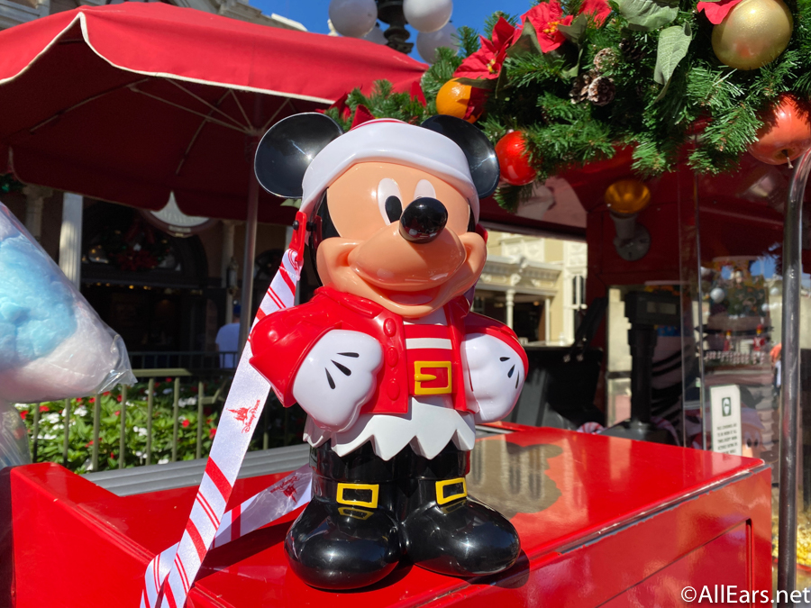 Disney Christmas Popcorn Bucket 2021 Photos Mickey Christmas Popcorn Bucket Is Back At Disney World Allears Net