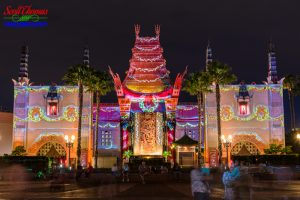 Christmas Projections on the Chinese Theatre