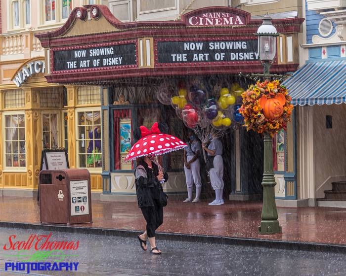 Raining on Main Street USA