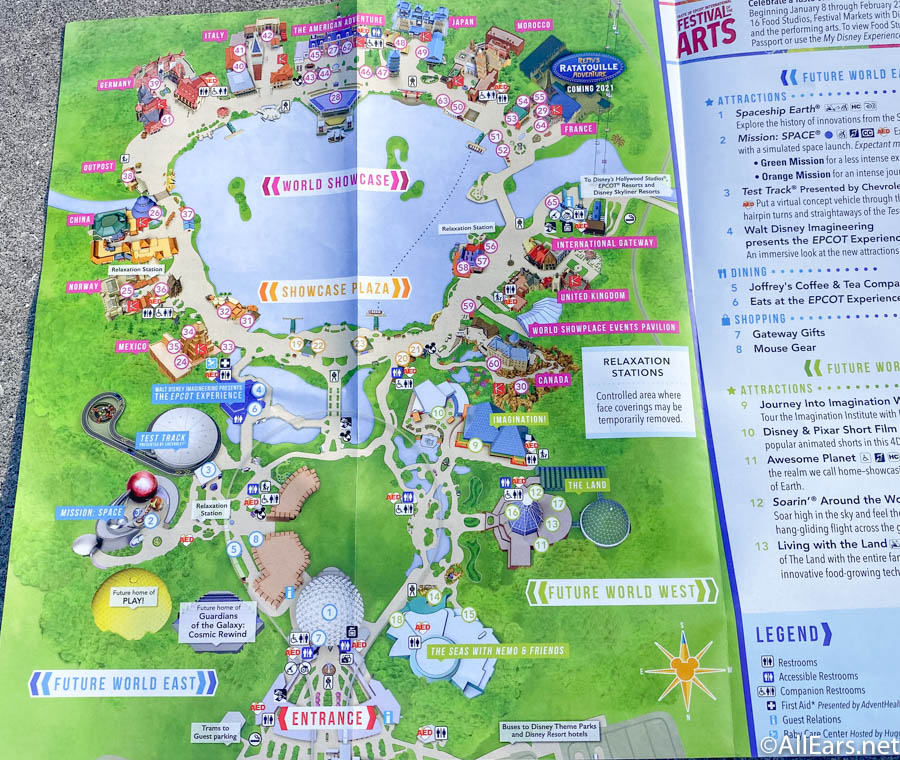 Photos Epcot Debuts New Park Map Featuring Upcoming Festival Of The Arts Allears Net