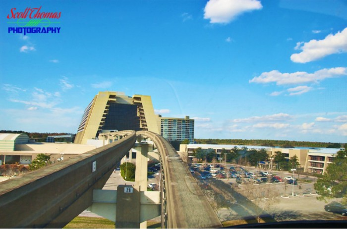 Monorail Ride to Contemporary Resort