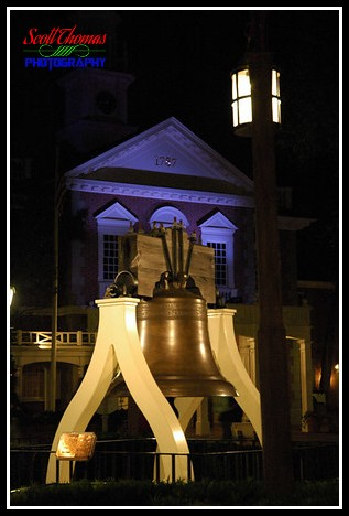 Magic Kingdom Liberty Bell at Night 2006