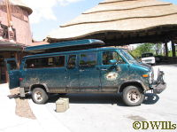 "The modified ""off-road"" transport van"