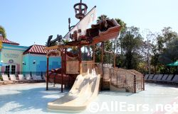 Kids Pirate Themed Splash Area Caribbean Beach
