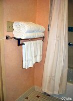 Lower towel rack