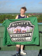 Annie and Wilderness Lodge Flag