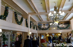 Disney's Yacht Club Resort Holiday Decorations