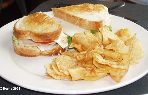 Roasted Turkey Sandwich at Big River Grille