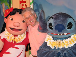 Deb Wills with Lilo and Stitch